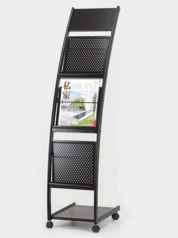 Metal Curved with Brochure Stand