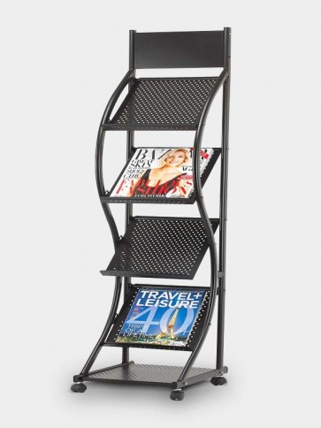 Slanting Brochure and Magazine Stand