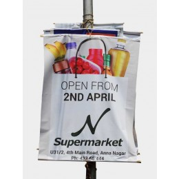 Lamp Post Flex Banners Printing