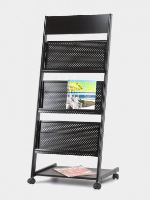Brochure and Magazine Stand with Header