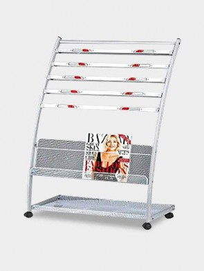 Newspaper Stand with Magazine Holder