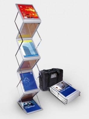 Zig Zag Acrylic Foldable Brochure Stand