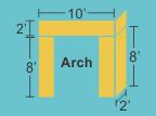 Top Panel 10w 2h 2d Pillars 2w 8h 2d