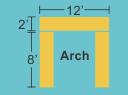 Top Panel 12w 2h Pillars 2w 8h
